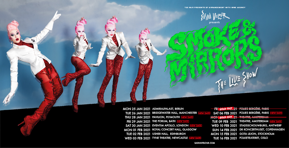 Sasha Velour 'Smoke & Mirrors' UK & EU Tour 2021